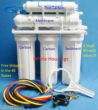 6 Stage RO+DI NT white Reverse Osmosis System 24/35/50GPD Drinking Water Filter