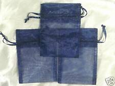 50 3X4 NAVY Organza Gift Bag Bags Pouch Wedding Favor