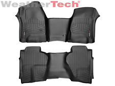 WeatherTech Floor Liner for Silverado/Sierra Double Cab - 1st & 2nd Row - Black