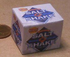 1:12th Closed Empty Salt & Shake Crisp Box Dolls House Miniature Shop Accessory