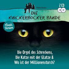 2 CDs * DIE KNICKERBOCKER BANDE - 3 FOLGEN - ORGEL/KATZE/MILLIONENS  # NEU OVP ~