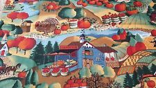 "Sheet Joan Kessler Autumn Country Sewing Fabric  44"" x 18"" Concord Fabrics"