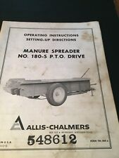 Original ALLIS-CHALMERS  Manure spreader 180-s PTO Drive Manual  AC