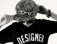 Women Men Fashion Retro Black Eye Flat Snapback Hip Hop Hippie baseball Hat Cap