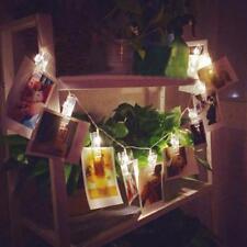 10 LED Klammer Hohl Lichterketten Außenbereich Weihnachten Party Bilder Dekor