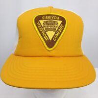 Siskiyou Telephone Co Vintage Trucker Hat Cap Patch Mesh Snap Back One Sz