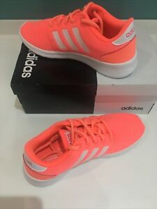 Adidas Womens QT Racer Trainer / Running Shoe Size 4 - Coral