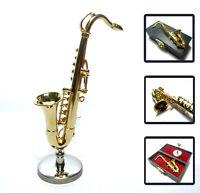 1/12 Dollhouse Miniature Alto Saxophone Sax Musical Instrument Music Figure box