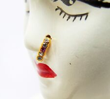 Indian Bollywood Golden Nose Ring Hoop Nose Ring Non Piercing Pin Body Jewelry