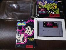 Joe & Mac SNES Super Nintendo Complete in Box CIB Authentic + BONUS PROTECTOR