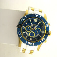 Invicta 23707 Mens Pro Diver Chrono Date Stainless Silicone Band Quartz Watch