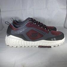 Skechers Monster 51715 Athletic Shoes, Men's Size 13 Gray/Burgundy