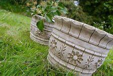 PAIR (2) WESTLAND FLOWER POTS Planters Patio Stone Cast  Bespoke Garden Decor
