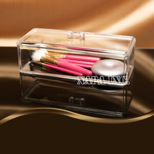 Clear Acrylic Organizer With Lid Makeup Jewelry Accessories Container Storage