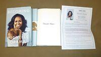New Signed Michelle Obama Becoming HC DJ 1/1 FLOTUS Memoir Barack First Lady USA