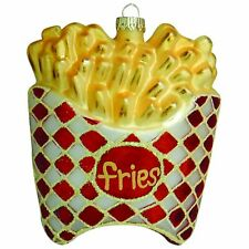 """4"""" French Fries Figurine Glass Ornament"""
