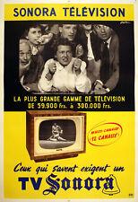 Original Vintage Poster Sonora Lutte Wrestling Arestein C1955 TV Television