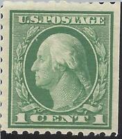 ORLEY STAMPS US Stamps, Scott #424 1c Washington 1914 VF+ M/NH. Beautiful