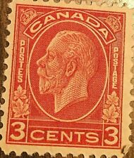 CANADA STAMP 3 CENTS KING GEORGE V RED