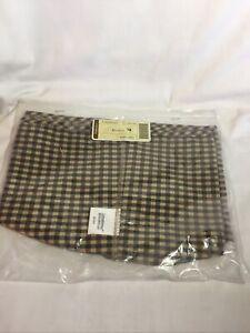 Longaberger Hatbox Basket 'Khaki Check' NEW in Package