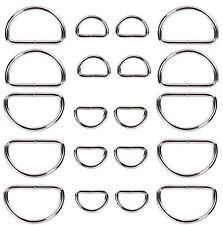 Metal Silver D ring Web Dee Webbing Strap handbag Purse Bag Strap Belt Buckle