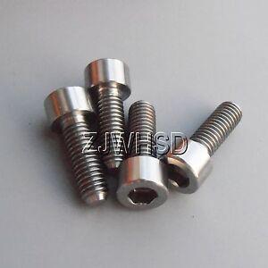4pcs M6 x 18 Titanium Ti Screw Bolt Allen Hex Socket Cap Head / Aerospace Grade