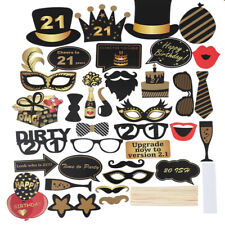 40X Funny Party Props Photo Booth Moustache Birthday Wedding Party Selfie Decor