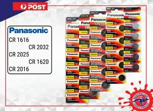 Panasonic CR2032 CR2025 CR1616 CR1620 CR1632 CR2450 CR2016 CR2430 Li Battery 3V