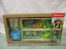 Fisher Price Farm-to-Market Stand Play Set Play Food 17 Pieces Pretend Toy Play