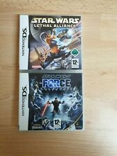 2x Nintendo DS Star Wars II The Force Unleashed & Lethal Alliance Complete Games