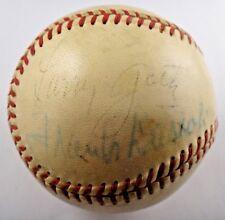 Larry Goetz Frank Dascoli Signed Official NL Baseball Two Famous Umpires JSA/PSA