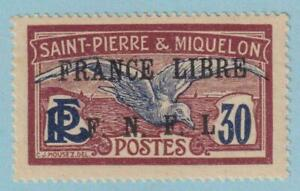 ST PIERRE & MIQUELON 206D  MINT LIGHTLY HINGED OG * NO FAULTS EXTRA FINE!