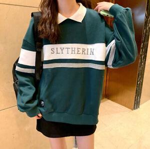 Harry Slytherin strikte Sweater Stickerei Schuluniform Pullover Potter Hoodie