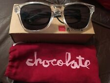 CHOCOLATE SKATEBOARDS  Deluxe Sunglasses - Clear Frame Shades - Not Perfect