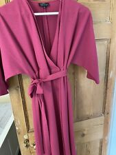Topshop Maternity Wrap Dress Magenta (pink / Purple) Size 10