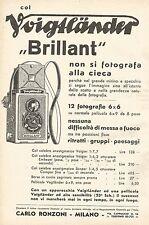 W7712 Col VOIGTLANDER Brillant non si fotografa alla cieca - Pubblicità del 1933