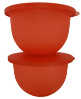 Tupperware Impressions Bowls in Beautiful Red Set of 2 SPRING SALE 5.5 Cups