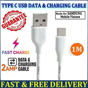 Type C USB-C Data Charging Cable Fast Charger For Samsung Galaxy S8 S9 S10+ Plus