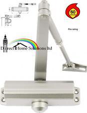 2 X ADJUSTABLE STEEL OVERHEAD DOOR CLOSER POWER SIZE 3 - 1hr FIRE RATED