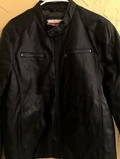 $199.50 NWT Levi's Men's Size S Small Full Zip Faux Leather Motorcycle Jacket
