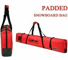 AUMTISC Single Ski Bag Travel Padded to Transport Skis Gear Pocket RED 185cm New