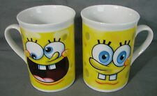 Spongebob Squarepants Coffee Cups Mugs 2010 Lot of 2