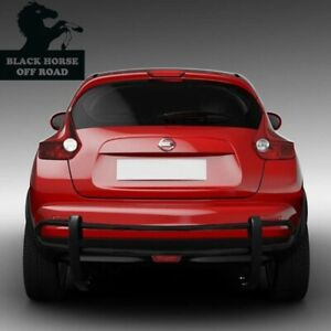 BLACK HORSE 2011-2017 Nissan Juke Black Double Tube Rear Bumper Guard 8NIJUA