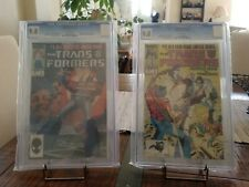 Marvel Comics The Transformers #1 & #2 CGC 9.8 1st Print In EXCELLENT Condition.
