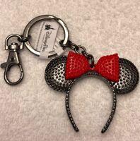 Disney Parks Classic Minnie Mouse Ears Metal Keychain