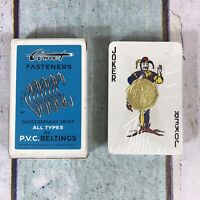 Vintage Advertising Comet Fasteners By Waddingtons playing cards sealed