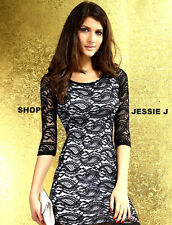Party Lace 3/4 Sleeve Stretch, Bodycon Dresses for Women