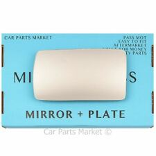 Left Passenger side Flat Wing door mirror glass for Alfa Romeo 155 92-98 + plate
