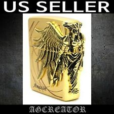 New Japan Korea zippo lighter amazon 1 gold plated emblem US SELLER