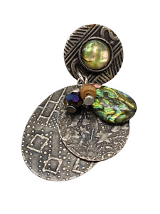 Rare Unique 5 Moving Piece Lapel/Tie/Hat Pin-Abaloni Shell Type Jewell free ship